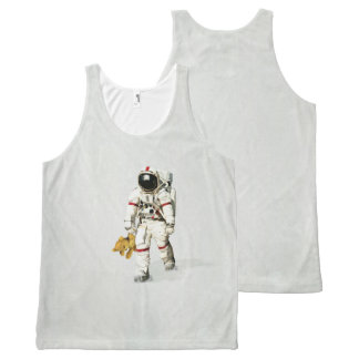 Space can be a lonely place All-Over print tank top