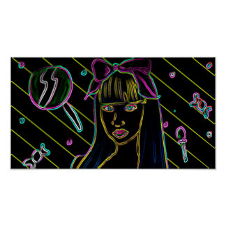 Space Candy Babe Poster