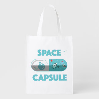 Space Capsule Reusable Grocery Bag