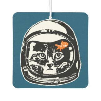 Space cat and the goldfish car air freshener