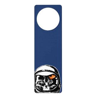 Space cat and the goldfish door hanger