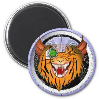 Space Cat Command 6 Cm Round Magnet