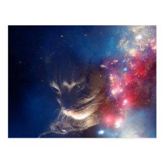 Space Cat Galaxy Postcard
