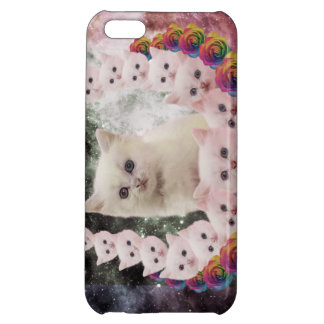 space cat in flowers iPhone 5C covers