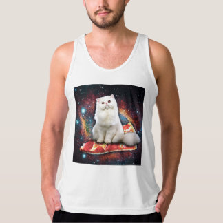 Space cat pizza singlet