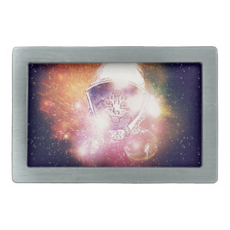 Space Cat Portrait2 Belt Buckles
