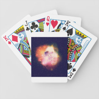 Space Cat Portrait2 Bicycle Playing Cards