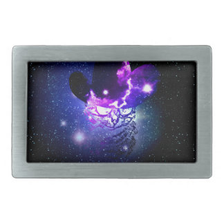 Space Cat Portrait3 Rectangular Belt Buckles