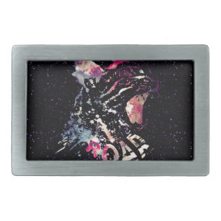 Space Cat Portrait Belt Buckles