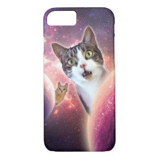 Space Cats LOL Funny iPhone Case