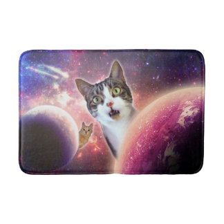 Space Cats LOL Funny Medium Bath Mat