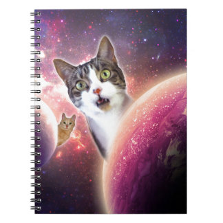 Space Cats LOL Funny Spiral Note Books