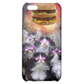 space cats looking for the burger case for iPhone 5C