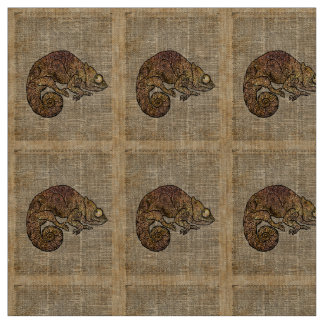 Space Chameleon Zentagle Dictionary Art Fabric