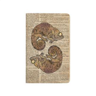 Space Chameleon Zentagle Dictionary Art Journal