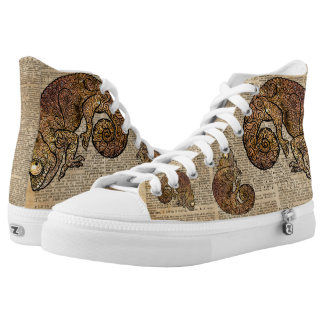 Space Chameleon Zentagle Dictionary Art Printed Shoes