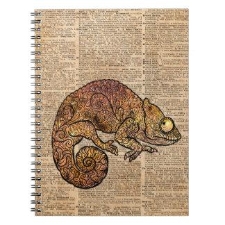 Space Chameleon Zentagle Dictionary Art Spiral Notebook