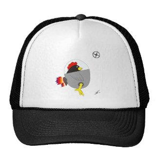 Space Chicken - Black Trucker Hat