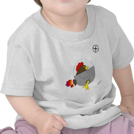 Space Chicken - Brown T-shirts
