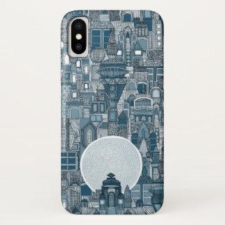 space city mono blue iPhone x case