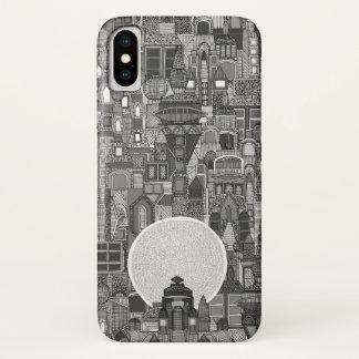space city mono bw iPhone x case