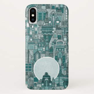 space city mono teal iPhone x case