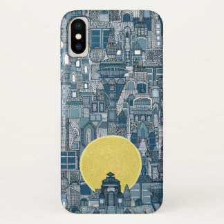 space city sun blue iPhone x case