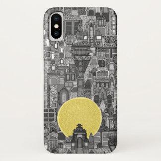 space city sun bw iPhone x case