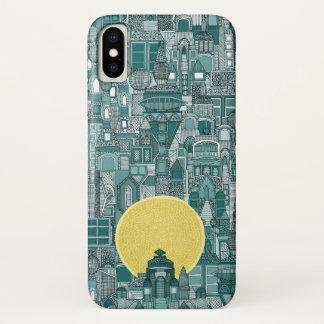 space city sun teal iPhone x case