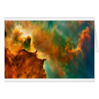 Space cloud nebula greeting card