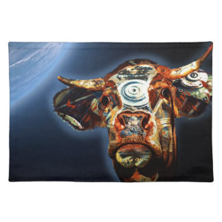 Space cow placemat