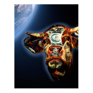 Space cow postcard