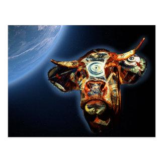 Space cow postcard