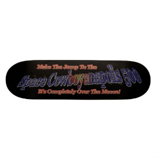 Space Cowboyanapolis 5oo-Completely Over The Moon! 21.6 Cm Skateboard Deck