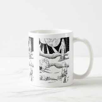 Space Crash B&W Mug
