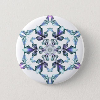 Space Crystal 6 Cm Round Badge