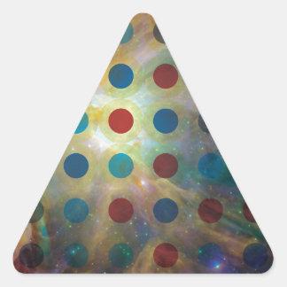 Space Design Triangle Sticker