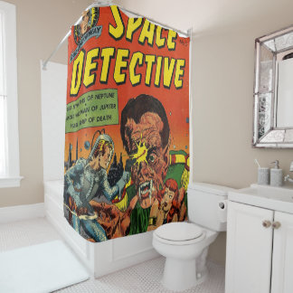 space detective 5 shower curtain