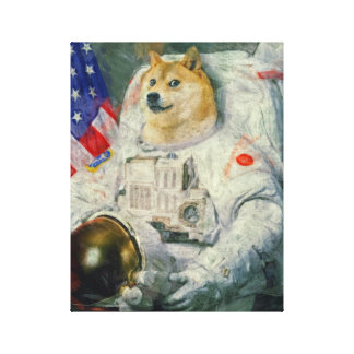 Space Doge Canvas paint version