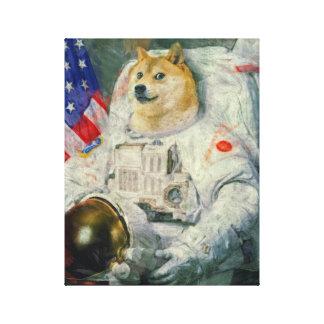 Space Doge Canvas paint version Canvas Print