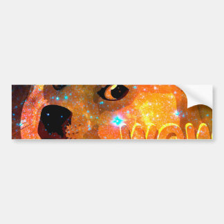 space - doge - shibe - wow doge bumper sticker