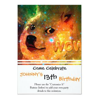 space - doge - shibe - wow doge card