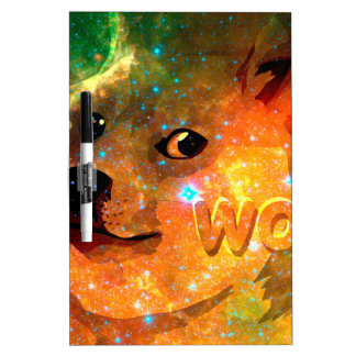 space - doge - shibe - wow doge dry erase board