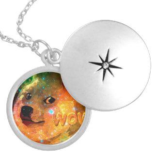 space - doge - shibe - wow doge locket necklace