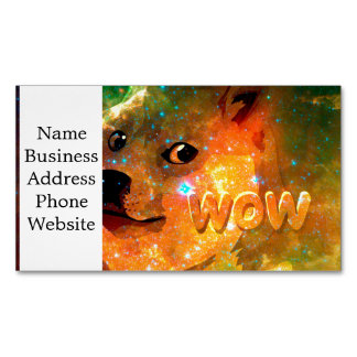 space - doge - shibe - wow doge Magnetic business card