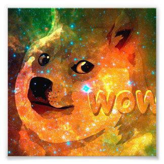 space - doge - shibe - wow doge photo print