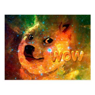 space - doge - shibe - wow doge postcard