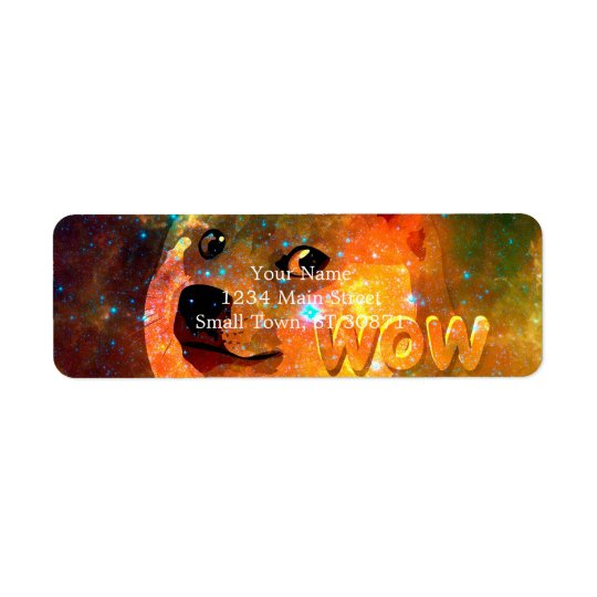 space - doge - shibe - wow doge return address label