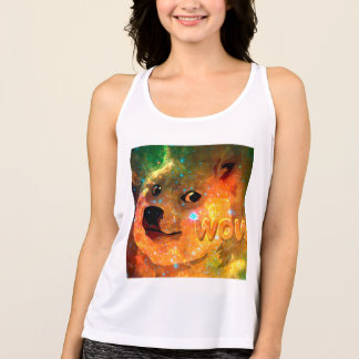 space - doge - shibe - wow doge singlet