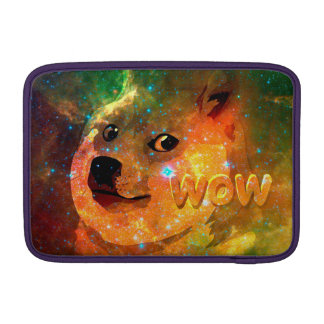 space - doge - shibe - wow doge sleeve for MacBook air